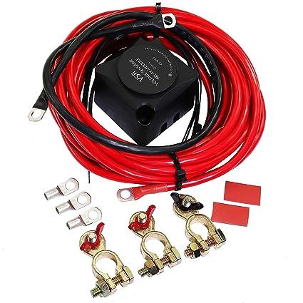 Peachy Amazon Com 12V Dual Battery Auxiliary System Isolator Voltage Wiring 101 Mentrastrewellnesstrialsorg