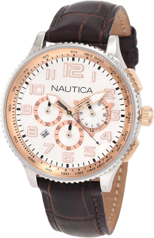 Nautica Men s N22599M OCN 38 MID Br. Chronograph Watch