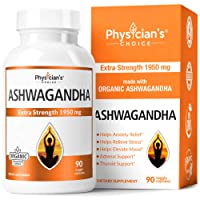 Ashwagandha 1950mg Organic Ashwagandha Root Powder Extract of Black Pepper Anxiety...