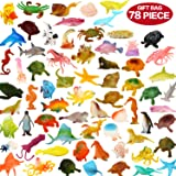 Ocean Sea Animals, 78 Piece Mini Sea Life Creatures Toys Set, ValeforToy Plastic Underwater Sea Animals Learning Toys For Boys Girls Kids Toddlers Party Bag Stuffers, Gift, Prize, Piñata, Sensory Toy