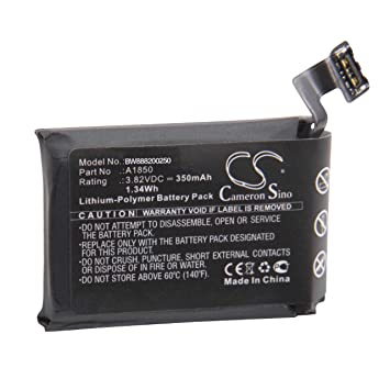 vhbw Litio polímero batería 350mAh (3.82V) para smartwatch ...