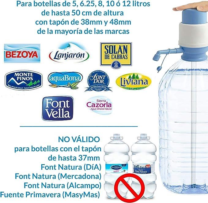 MovilCom® - Dispensador Agua para garrafas | Dosificador Agua garrafas Compatible con Botellas (Pet) de 2,5, 3, 5, 6, 8, 10 y 12 litros | para ...