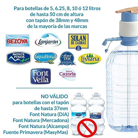 MovilCom® - Dispensador Agua para garrafas | Dosificador Agua garrafas Compatible con Botellas (Pet) de 2,5, 3, 5, 6, 8, 10 y 12 litros | para Botellas con ...