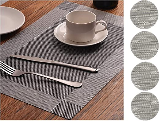 Set Of 4 Coasters /& Matching Placemats Dining Protective Dinner Table Tableware