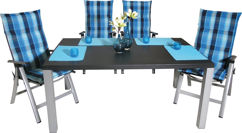 sun garden gartenm bel set alu 13 tlg melbourne gartentisch klappsessel auflagen kaufen. Black Bedroom Furniture Sets. Home Design Ideas
