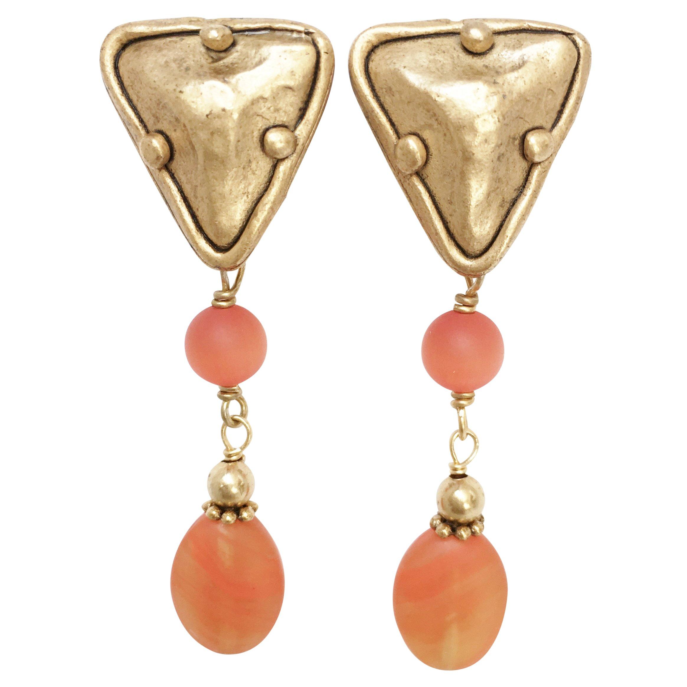 Shaune Bazner Gold-Plated Clip-on Earrings E-C7-20-GC