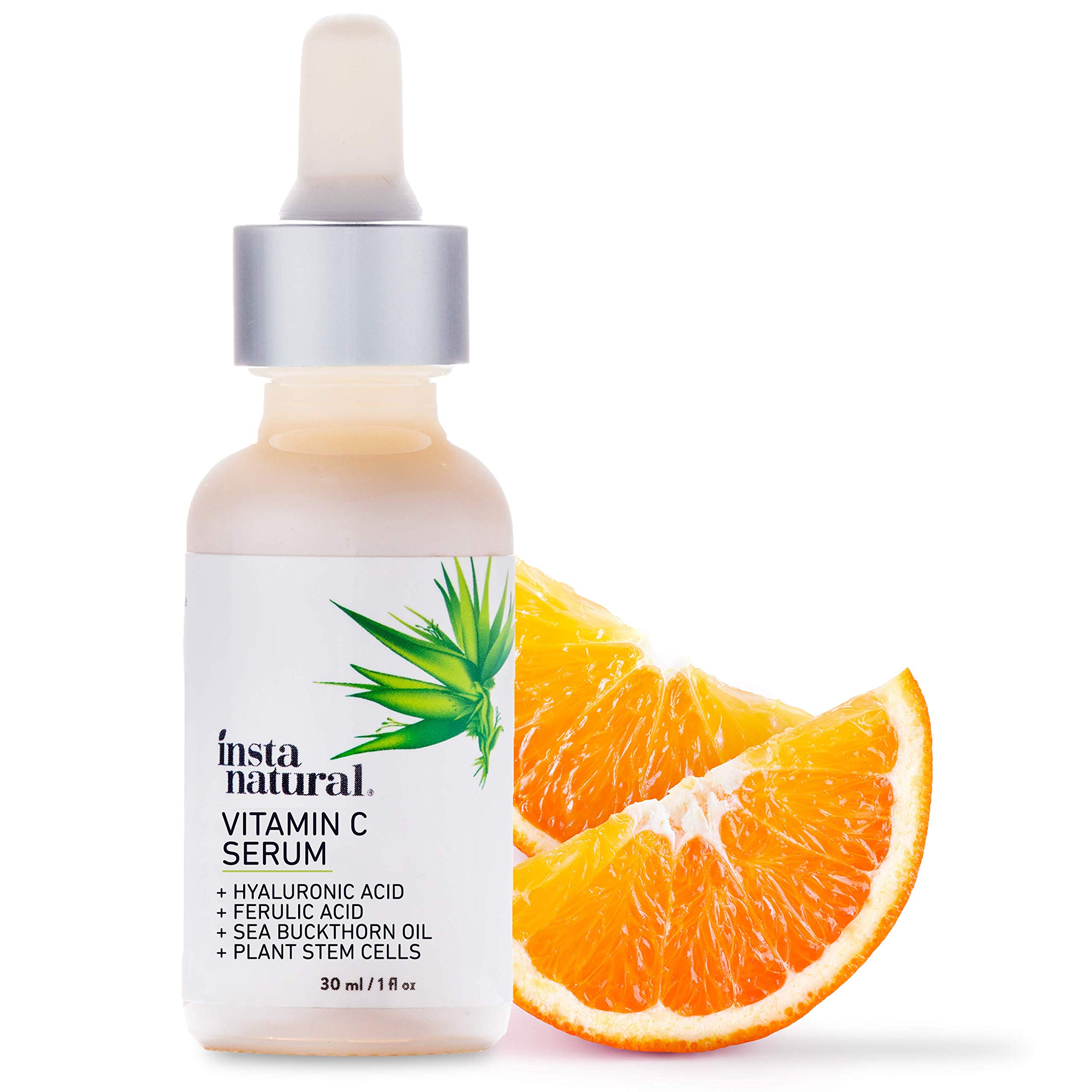 InstaNatural Vitamin C Serum with Hyaluronic Acid & Vit E - Natural & Organic Anti Wrinkle Reducer Formula for Face - Dark Circle, Fine Line & Sun Damage Corrector - Restore & Boost Collagen - 1 oz by InstaNatural