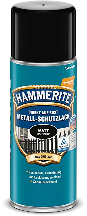 Turbo Hammerite Metall-Schutzlack matt Rostschutz Lack Metallfarbe ZH85