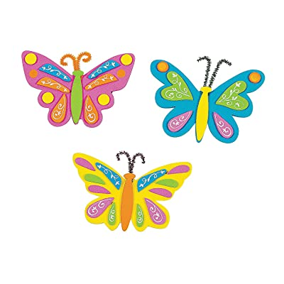 Butterfly Foam Magnets Craft Kit - Crafts for Kids and Fun Home Activities: Toys & Games