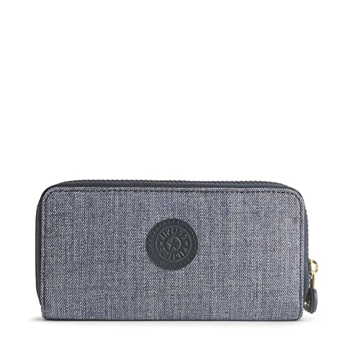 Kipling Uzario, Monedero para Mujer, Azul (Cotton Jeans), 15x24x45 cm (W x H x L): Amazon.es: Zapatos y complementos