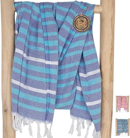Toalla Hammam Grande Azul Real Ideal para Vacaciones 95x200 cm Playa 100/% Algod/ón Dise/ño Exclusivo ZusenZomer Fouta Toalla Turca XL Tortuga Sauna