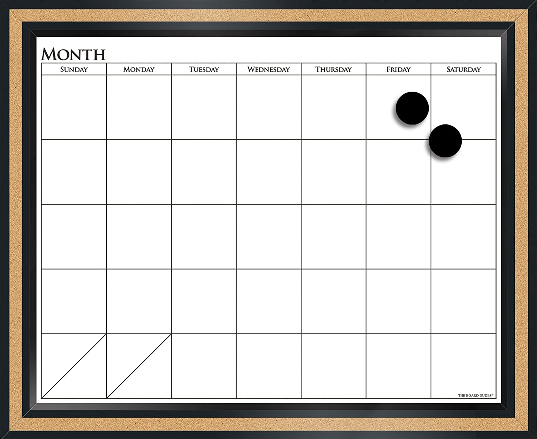 Calendar Planner Board : Dry erase monthly calendar with cork board diydry