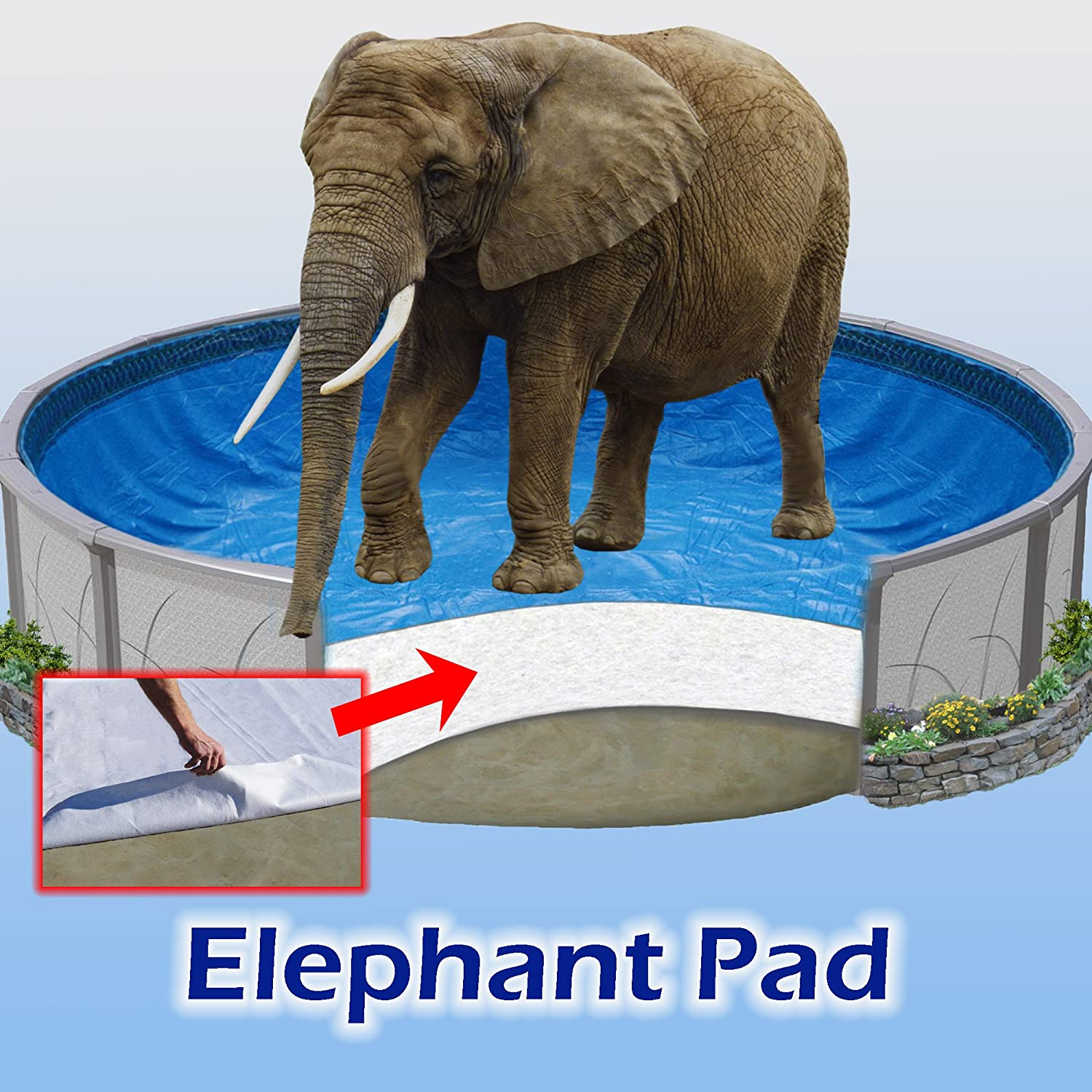 12 ft Round Pool Liner Pad, Elephant Guard Armor Shield Padding 81xRrKKNDQL