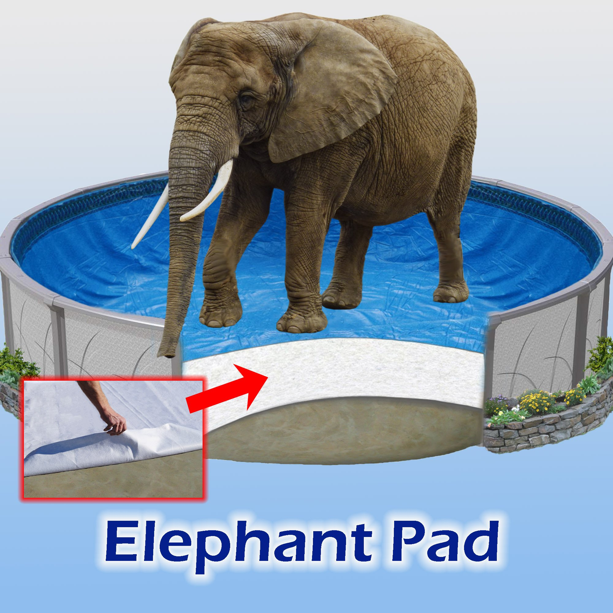 18 ft Round Pool Liner Pad, Elephant Guard Armor Shield Padding by Quality Pool Products