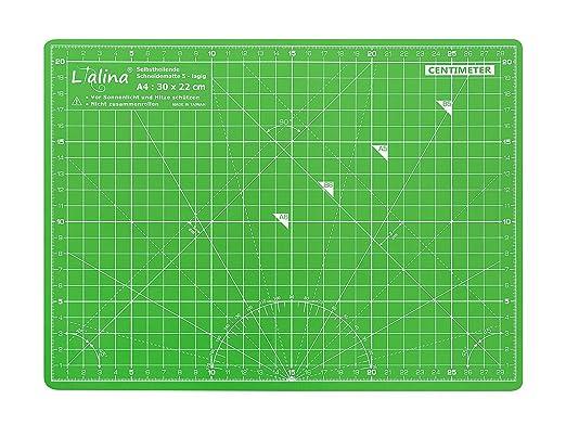 3 opinioni per Lialina® Tappetino da Taglio Autorigenerante A4 30*22 cm per patchwork,