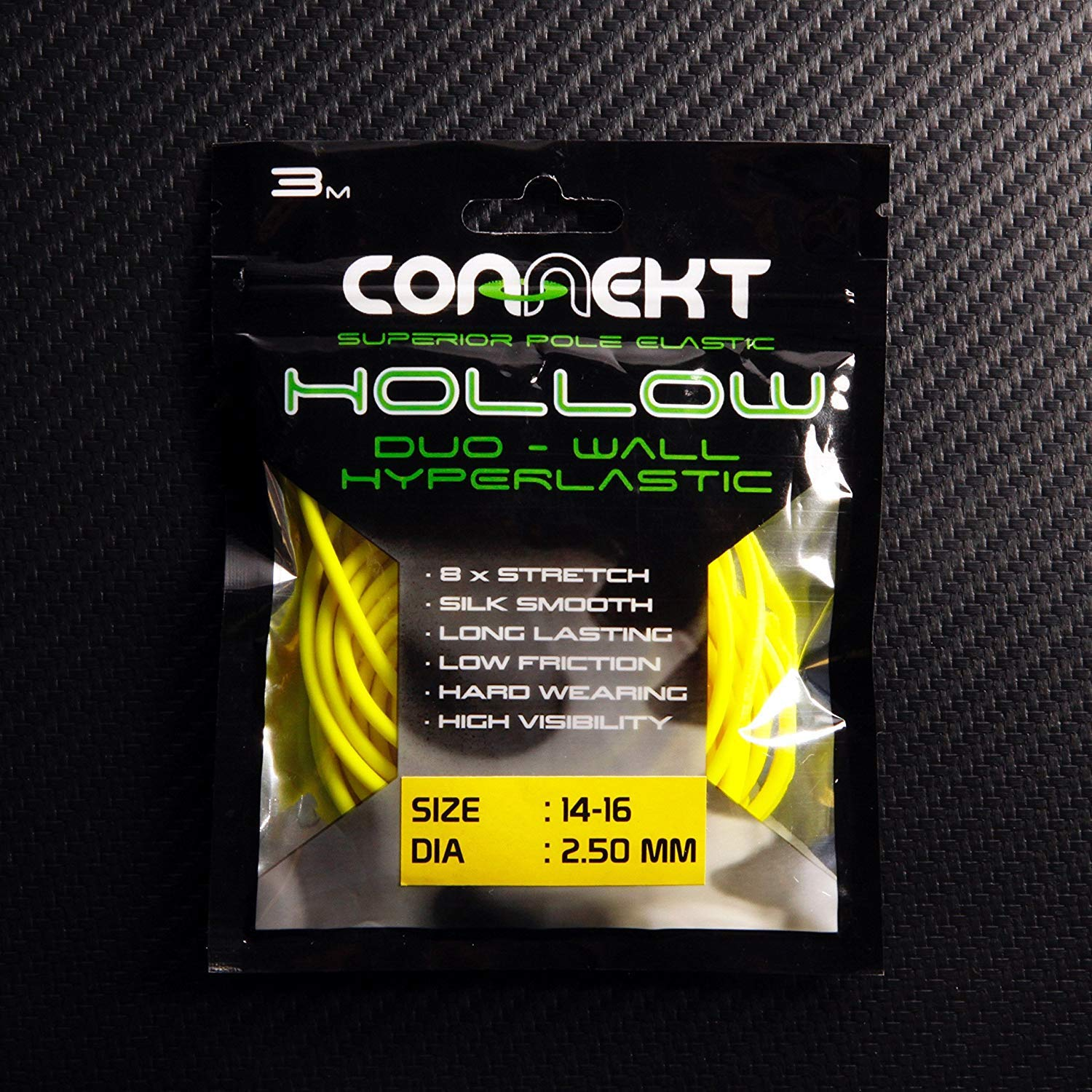 Connekt Hollow Duo-Wall Hyperlastic | Hollow Fishing Elastic | Competition Pole Fishing | Multiple Sizes