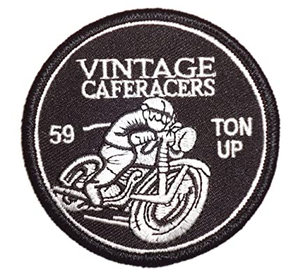 Amazon Vintage Cafe Racer 59 Ace Ton Up Boys Club Triumph Logo