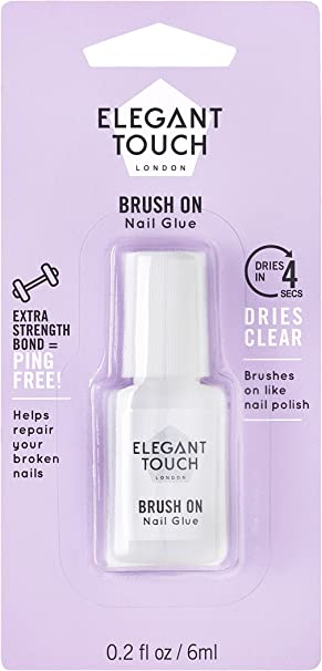 Elegant Touch 4002007 Pegamento con Pincel, 4 Second Brush on Nail ...