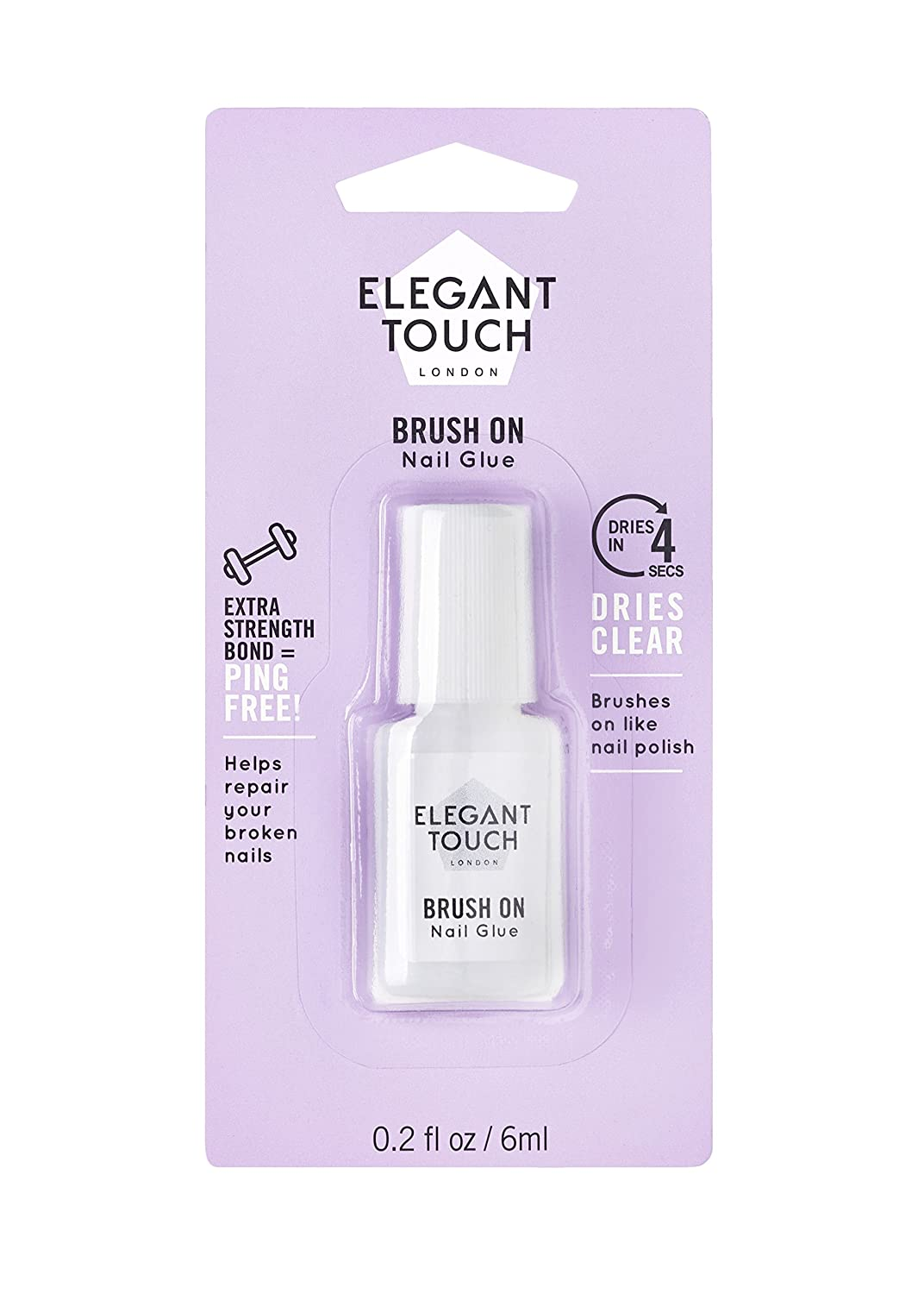 Elegant Touch Brush On Nail Glue 6ml 4002007 B000ODO4RI