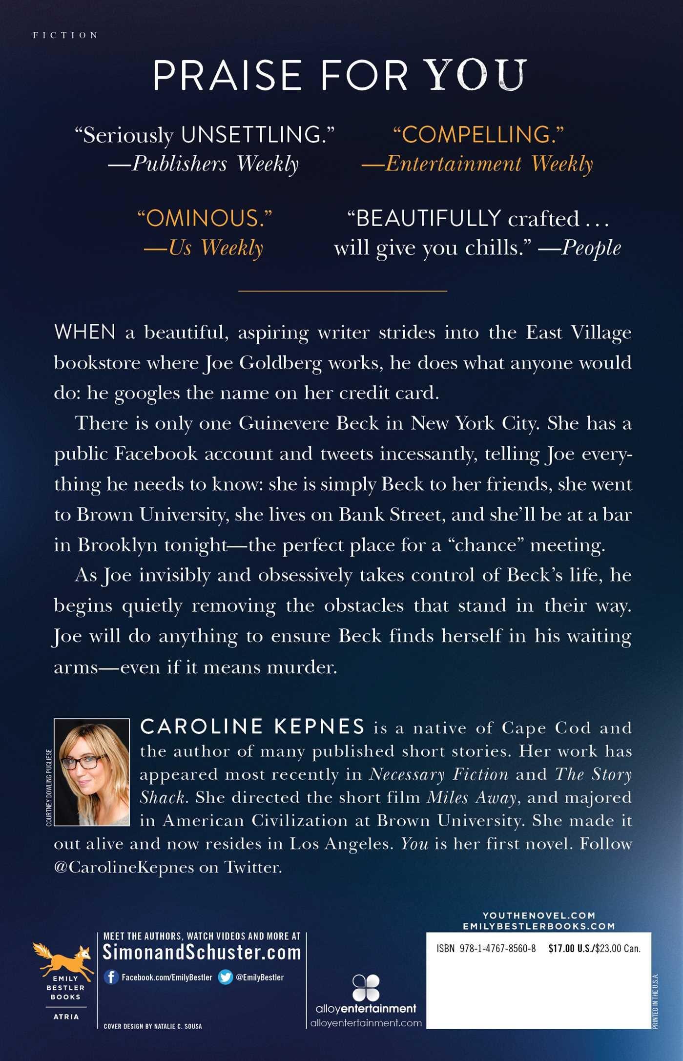 Amazon com: You: A Novel (9781476785608): Caroline Kepnes: Books