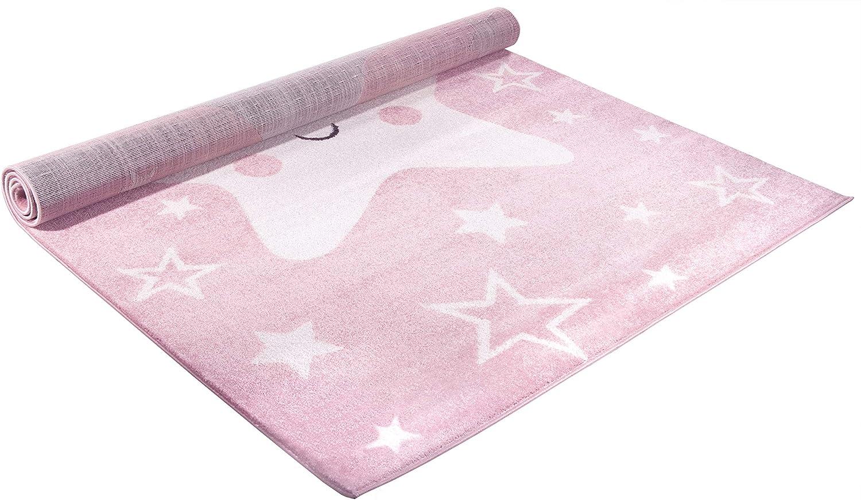 CarpetForYou Happy Star Grey Modern Kinderteppich Jungeteppich mit Sternen Kurzflor 80 x 150 cm perfekt f/ür das Kinderzimmer oder Jugendzimmer