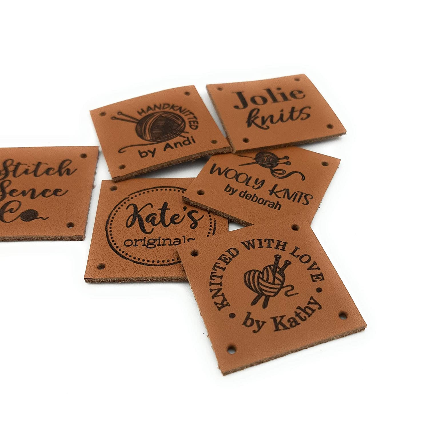Personalised engraved wooden tags for knitted items personalized sew on labels clothing labels custom sew in labels