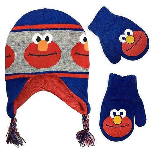 eadfdc3fba661 Sesame Street Boys Laplander Winter Hat and Mitten Set - Toddler Size   4015  (