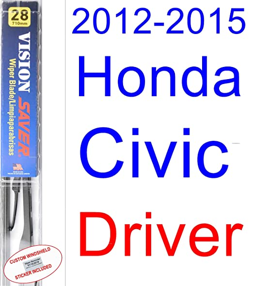 Amazon.com: 2012-2015 Honda Civic Coupe Wiper Blade (Driver) (Saver Automotive Products-Vision Saver) (2013,2014): Automotive