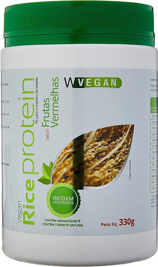 Rice Protein 330g Proteina Arroz Sabor Frutas Vermelhas Wvegan, Mais Nutrition, Sem Cor por Mais Nutrition