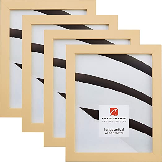 19 by 36-Inch Black Satin Picture Frame Craig Frames Contemporary Wide