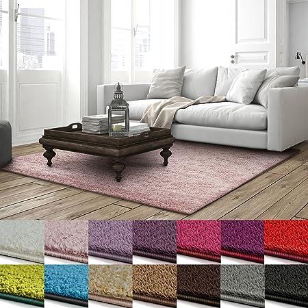 casa pura shaggy teppich barcelona weicher hochflor teppich fur wohnzimmer schlafzimmer kinderzimmer