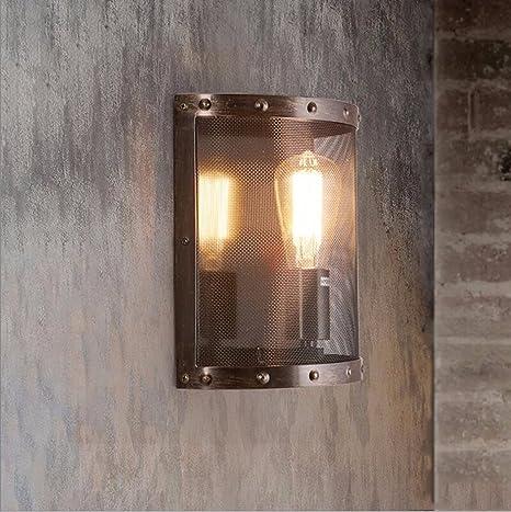 lámpara de pared American Industrial rural restauración Lampara de pared Cafe Bar Creativo hierro lampara de