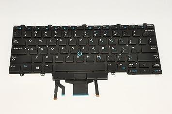 Dell Latitude 7480 - Teclado retroiluminado QWERTY con ...