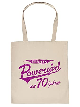 70 Years 70th Birthday Gift Cool Bag Power Girl