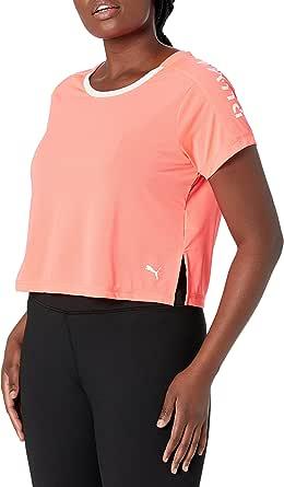 PUMA Womens Logo Graphic Tee Short Sleeve T-Shirt