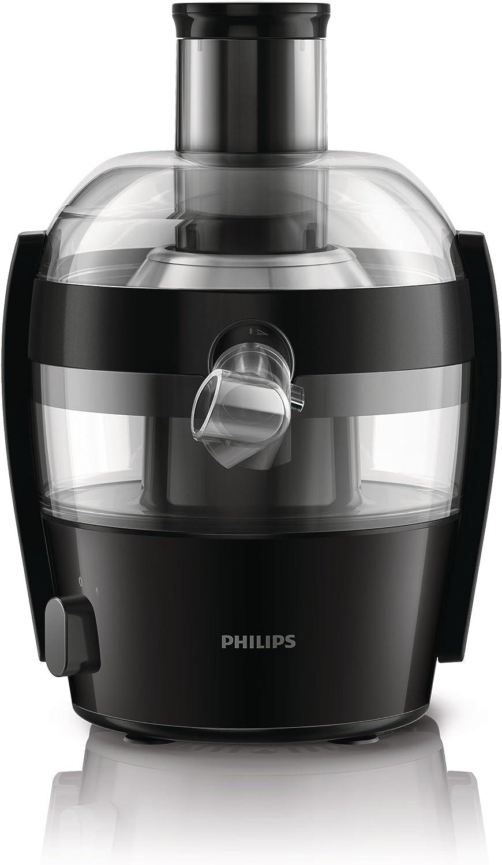 Philips Compact HR1832/00 - Licuadora, 500 W, Facil Limpieza con QuickClean, 1 Velocidadad, Color Negro