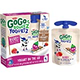 GoGo squeeZ yogurtZ, Berry, 3 Ounce (4 Pouches), Low Fat Yogurt, Gluten Free, Pantry-friendly, Recloseable, BPA Free…