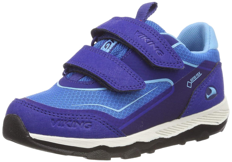 Bleu (Dark bleu bleu 7635) Viking Evanger Low GTX, Chaussures de Cross Mixte Enfant 33 EU