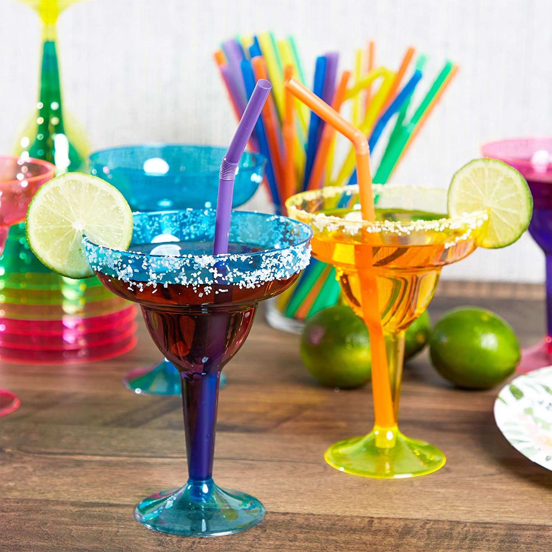 4 colori neon assortiti Bicchieri Margherita in plastica 12 oz confezione da 36 pezzi