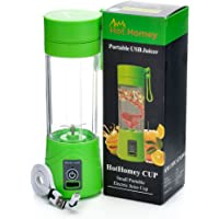 Hot Homey Portable Rechargeable USB Juicer Cup - 2000 mAh - Water Bottle - 380ml Personal Size Electric Fruit Mixer, Juice Blender with USB Charger Cable - Perfect for Work Travel and Outdoors