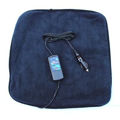 "Car Cozy 2 Mini 12-volt Heated Travel Pad (Navy, 16""x 16"") with Patented Safety Timer by Trillium Worldwide: Automotive"