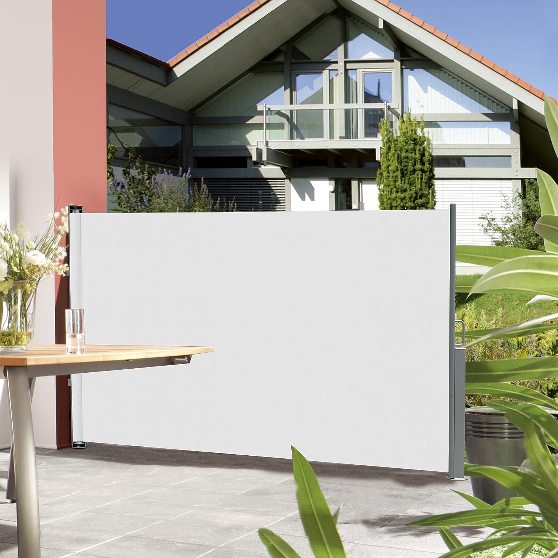 neu haus] Seitenmarkise Weiß 180x300cm Sonnenschutz