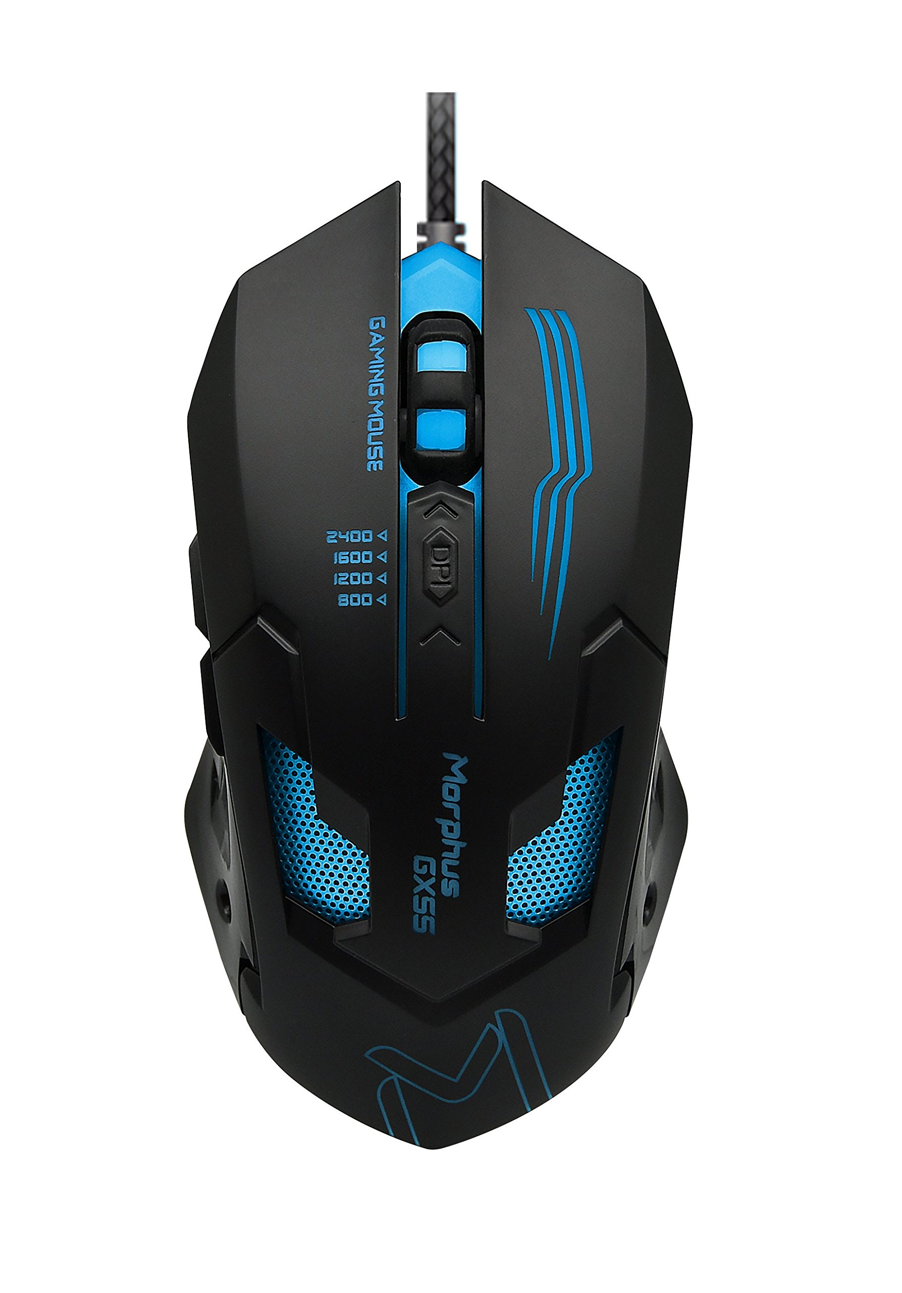 AIKUN MORPHUS Gaming Mouse (GX55), 6 Buttons, 3200 4 Adjustable DPI Levels, 7 Circular & Breathing LED Light, Wired Mouse Used for Games and Office by Aikun