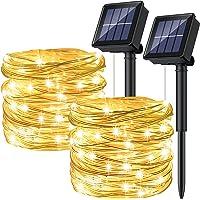 [2P]Ruyilam Guirnaldas Luces Exterior Solar, 12M 120 LED Guirnaldas Luminosas Decoración, Cadena de Luces Decorativas…