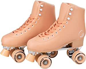 C SEVEN Skate Gear Soft Classic Faux Leather Roller Skates