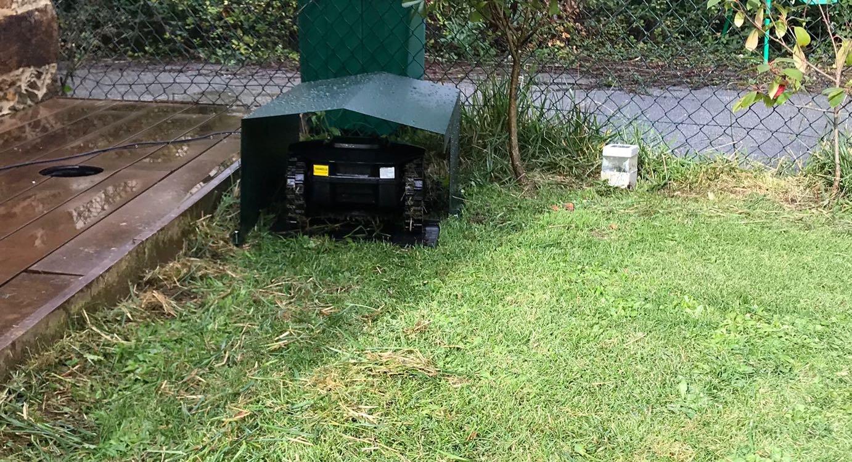 CODI Caseta/Garaje Robot cortacésped, Mod 550 Aluminio, Válido par ...