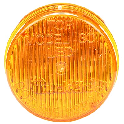Truck-Lite 30286Y 30 Series, Self-Flashing, LED, Strobe, 3 Diode, Round Yellow, Fit 'N Forget M/C, 12V: Automotive