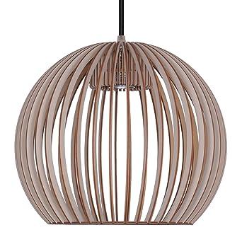 Perfekt Pendelleuchte Aus Holz   Moderne Designer Deckenleuchte   Viele Farben  Erhältlich Taupe