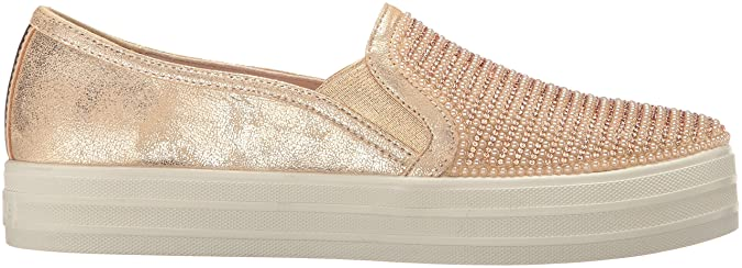 Amazon.com | Skechers Street Womens Double up-Shiny Dancer Fashion Sneaker | Loafers & Slip-Ons