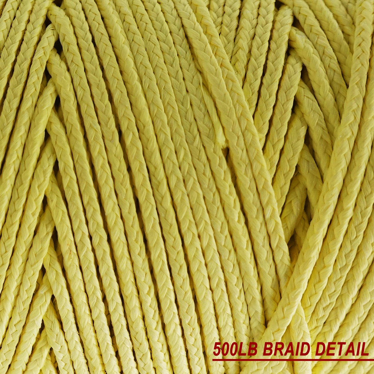 emma kites Kevlar Braided Cord 500lb 100ft High Strength Low Stretch Tent Tarp Guyline Suspension for Camping Hiking Backpacking Recreational Marine Outdoors Activities by emma kites (Image #3)